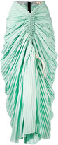 Marni ruched plissé mermaid skirt - women - Cotton - 40