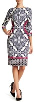Eliza J 3/4 Sleeve Printed Dress (Petite)