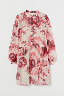 H&M Chiffon Dress - Beige
