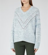 Reiss Lanette - Dual-colour Jumper in Blue, Womens