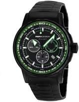 MOMO Design PILOT PRO MD2164BK-03BKGR-MB 46mm Black Steel Bracelet & Case Mineral Men's Watch