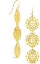 Sterling Forever 14K Gold Plated Filigree Dangle Earrings
