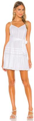 1 STATE Spaghetti Strap Flounce Skirt Dress