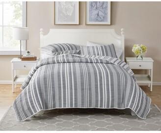 Seventh Studio Dover Stripe 3-Piece King Poly/Cotton Quilt Set