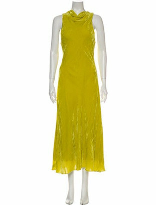 Sies Marjan Cowl Neck Long Dress Green