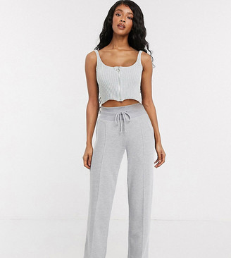 Collusion wide leg trackies in grey marl