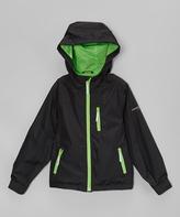 Hawke & Co Black & Green Zip-Up Jacket - Toddler & Boys