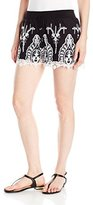 GUESS Women's Genevive Embroidered Short