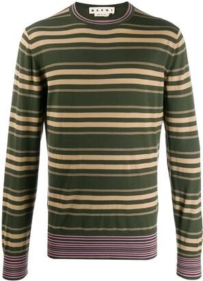 Marni crew neck striped jumper