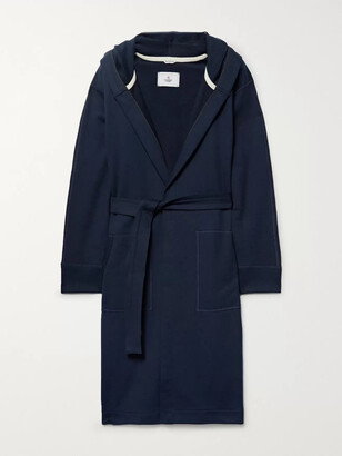 Reigning Champ Loopback Cotton-Jersey Hooded Robe - Men - Blue