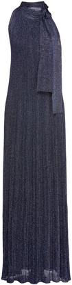 M Missoni Bow-detailed Metallic Crochet-knit Maxi Dress