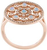 Astley Clarke 14kt rose gold Icon Nova Opal ring