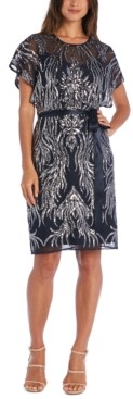 R & M Richards Embellished Sheath Dress