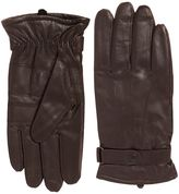 Barbour Burnished leather thinsulate glove