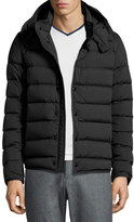 Moncler Nazaire Lightweight Hooded Puffer Jacket, Black