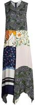 See by Chloe Patchwork Print Sleeveless Maxi Handkerchief Dress