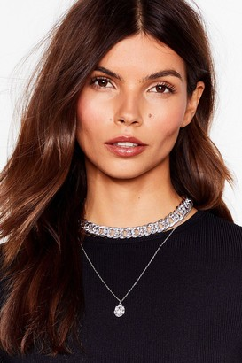 Nasty Gal Womens Drop By Layered Pendant Necklace - Grey - ONE SIZE, Grey