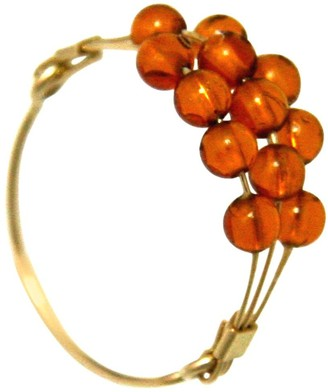Gemshine - Ring - 14k Gold plated - Faceted Baltic Amber Ringsize:52 (16.6)