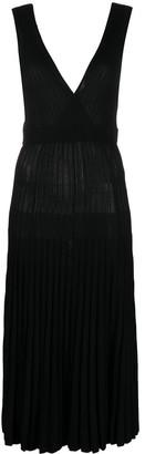 P.A.R.O.S.H. ribbed-knit V-neck dress