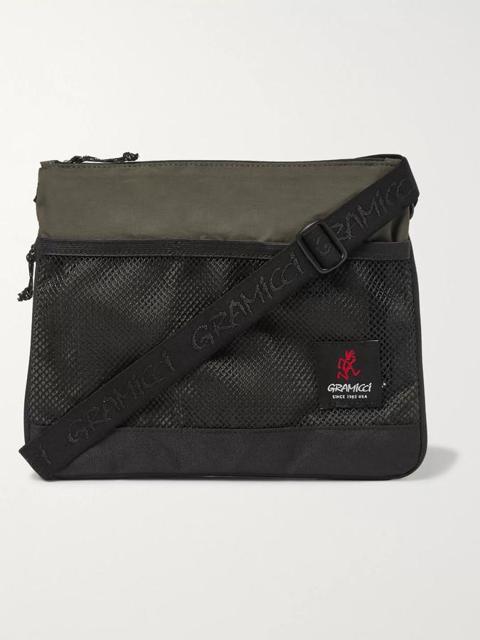 Gramicci Mesh-Trimmed Shell Messenger Bag - Men - Green
