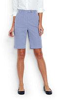 "Lands' End Women's Petite 7 Day 10"" Bermuda Shorts-Vibrant Cobalt Stripe"