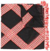 Giorgio Armani patterned scarf - women - Silk/Acrylic/Polyamide/Wool - One Size