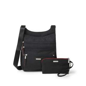 Baggallini Women's New Classic Around Town Bagg with RFID Phone Wristlet