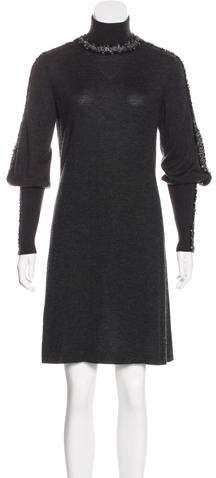 Chanel Embellished Cashmere Dress
