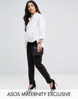 Asos Pull On Ponte Peg Pant
