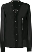 Rick Owens sheer press stud shirt
