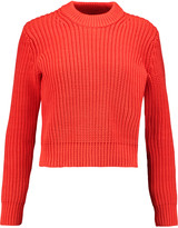 Alexander Wang Ribbed-knit cotton-blend sweater