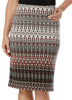 Rafaella Patterned Pencil Skirt