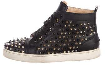 Christian Louboutin Louis Spike High-Top Sneakers