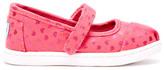 Toms Pink Canvas Hearts Tiny Mary Janes