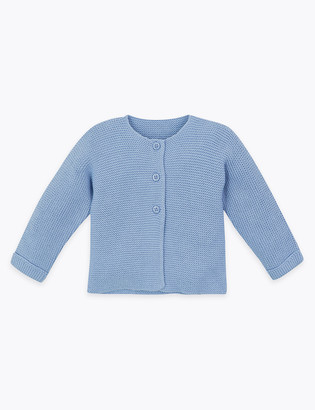 Marks and Spencer Pure Cotton Cardigan (7lbs-12 Mths)