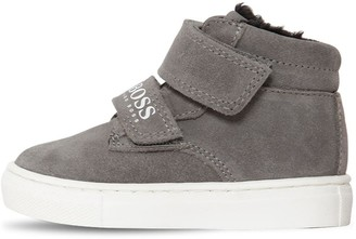 HUGO BOSS Leather & Suede High Top Sneakers