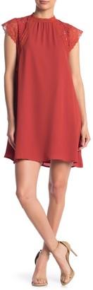 One One Six Scalloped Lace Trim Dress