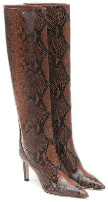 Jimmy Choo Mavis 85 snake-effect knee-high boots