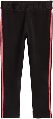 Moncler Kids' Logo Stripe Leggings
