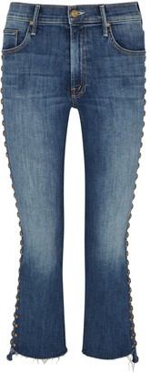 Mother The Insider Studded Slim-leg Jeans
