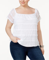 INC International Concepts Plus Size Lace Top, Created for Macy's