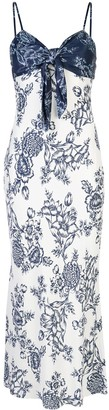 Shona Joy Knot Detail Floral Pattern Dress