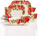 222 Fifth Winter Poinsettia Dinnerware Collection