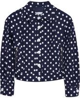 See by Chloé Polka-dot cotton-blend jacket