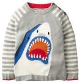 Mini Boden Stripe Shark Sweater