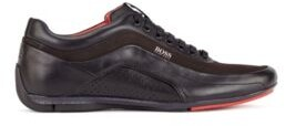 HUGO BOSS Low-top trainers in leather and suede