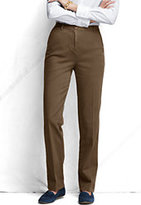 Classic Women's Pre-hemmed Fit 3 7 Day Elastic Back Tapered Leg Pants-Umber