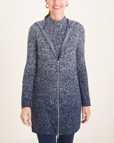 Zenergy Cotton-Cashmere Blend Ombre Hooded Cardigan