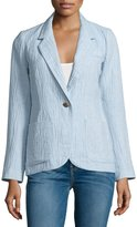 Smythe Dickens One-Button Blazer, Chambray