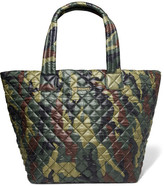 MZ Wallace Metro Camouflage-print Quilted Shell Tote - Army green